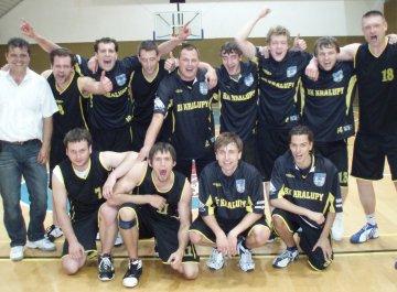 Postup do 2. ligy týmu BK Kaučuk Kralupy - 2011